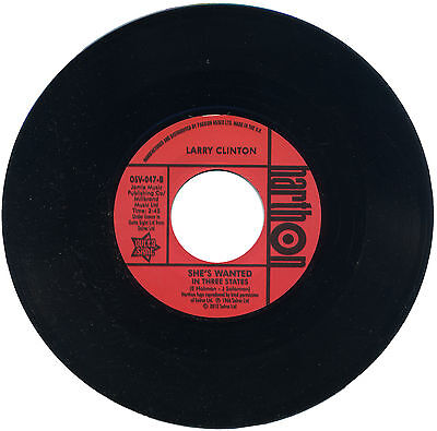 """LARRY CLINTON  """"SHE'S WANTED (IN THREE STATES)""""  NORTHERN SOUL CLASSIC"""