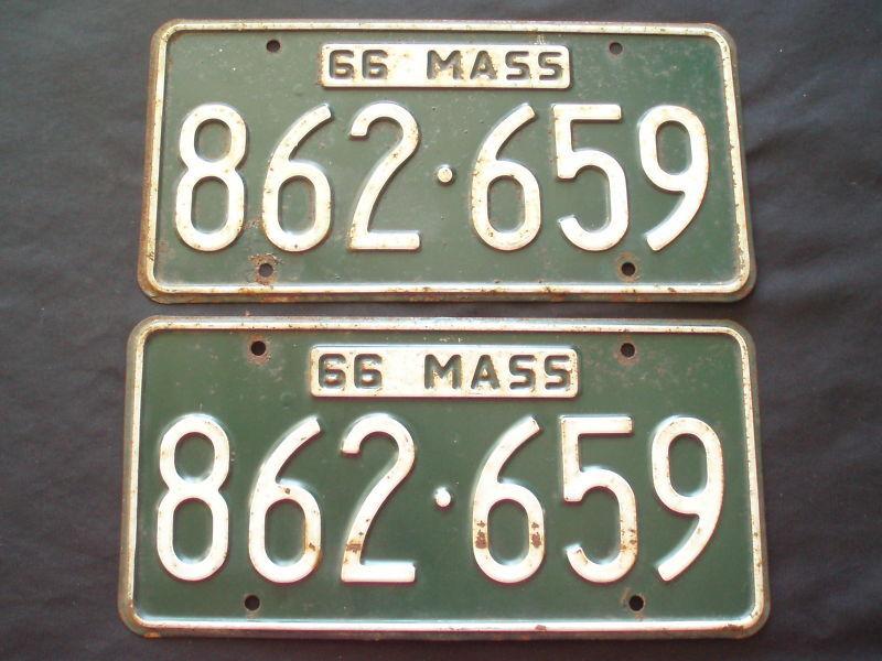 1966 Massachusetts License Plates  862-659