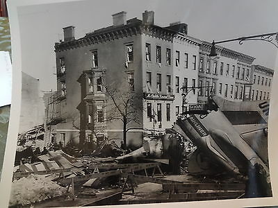 1960 United Airlines Park Slope Brooklyn Airplane NYC Crash Photo
