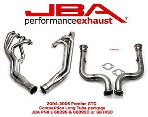 JBA Long Tube Headers & Catless mid-pipes Pontiac  GTO  2005-2006 6809S-6810SD