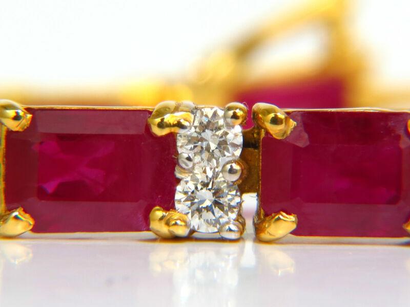 Gia 18kt 23.46ct Natural Ruby Diamond Bracelet Blood Vivid Super Gem+