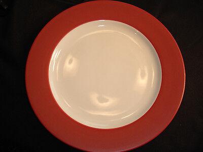 NORITAKE COLORWAVE RASPBERRY Rimmed Dinner Plate New with tag Colorwave Raspberry Dinner Plate