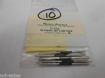 Lot Of 10 Western Analytical Model U-126 Tubing 0.007 I.d. X 116 O.d. X 10cm