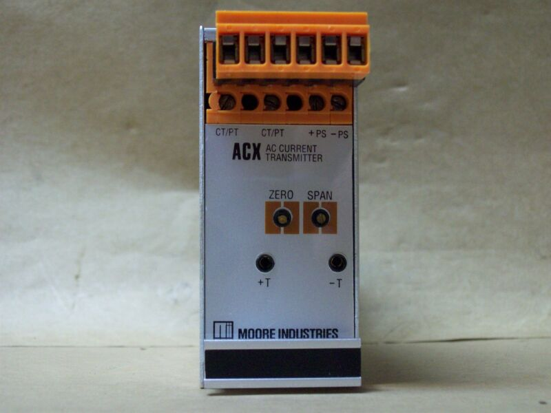 MOORE INDUSTRIES ACX/0-120VAC/4-20MA/12-42VDC-FA-RTB [DIN] TRANSMITTER NEW 986WH