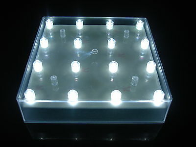 10 Square LED Battery Light Bases with 16 White Lights Wedding Table Centrepiece - Table Centerpieces With Lights