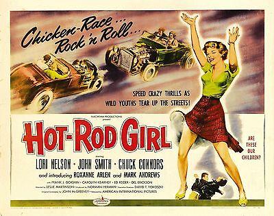 HOT ROD GIRL Movie Poster XXX Biker Exploitation](Hot Biker Girl)