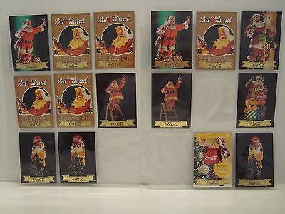 COCA-COLA TRADING CARDS SERIES 3 SANTA CARDS