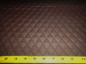 Brown QUILTED FABRIC Double Sided 1