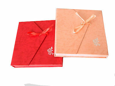 (Wedding Jewellery Sets Elegant Gift Big Box Pink or Red with Bow Packing BX6)