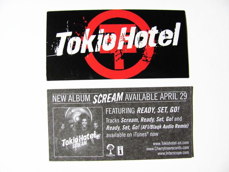 NEW Tokio Hotel Scream Ready Go Bike Board Amp Sticker