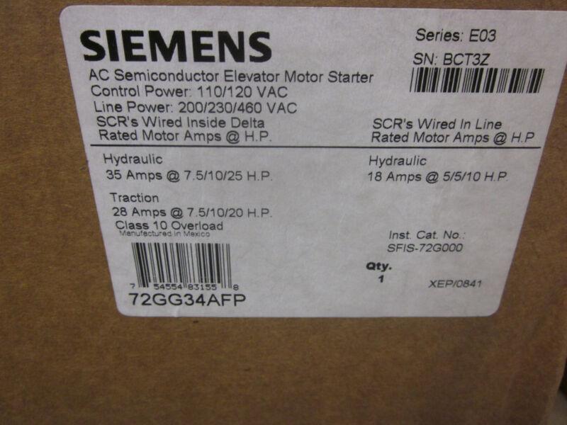 72GG34AFA - Siemens Elevator Motor (NEW)
