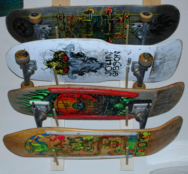 NEW Skateboard Rack for 4 Complete Boards or Decks zorlac powell peralta vision