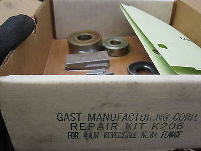 Gast K206 Manufacturing Repair Kit K206 For 4am Rev Nema Flange New