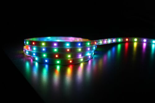 1M WS2801 RGB LED strip, IP67 Waterproof, Individually Addressable LEDs