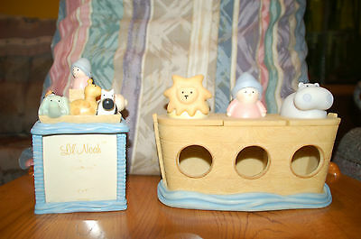 NOAH'S ARK NURSERY JAR  & PICTURE KEEPSAKE BOX CHERI LANE BABY NURSERY