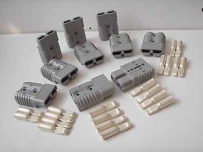 10 X GREY GENUINE SB 175 AMP ANDERSON PLUG BATTERY POWER CABLE CONNECTORS BULK