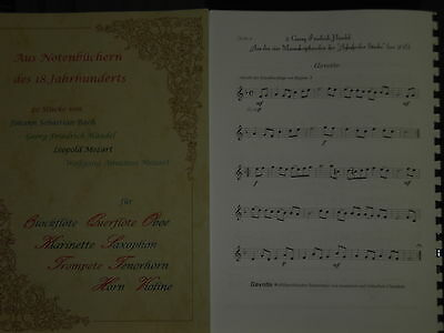 20 Stücke für Horn in B aus dem 18.Jhd.(Bach, Händel, Mozart) - Noten+Begleit-CD