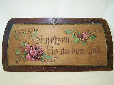 Old Quotation Board, Wooden Sign, Blessing, Door Sign with Saying, Faithful