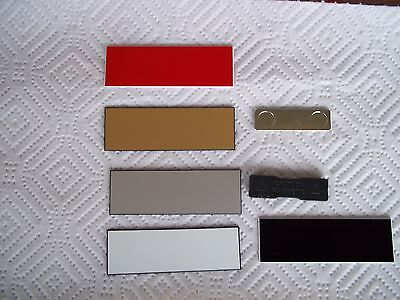 1o Magnetic Blank Name Pin Badge Choice Colors 1x3