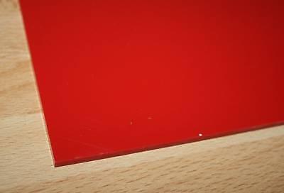 1 Hart PVC Kunststoffplatte rot 1000x495x10mm