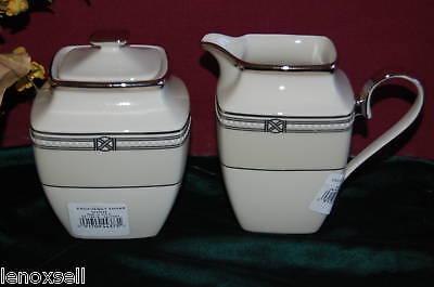 Lenox Engagement Square Sugar bowl and Creamer 1stQ NIB USA Square Sugar Bowl