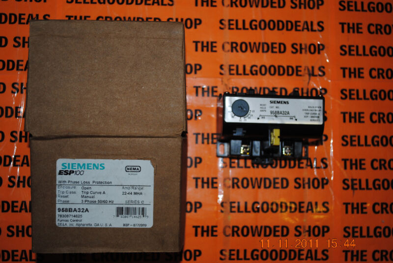 Siemens ESP100 958BA32A Solid State Overload Relay New