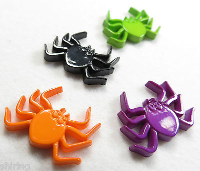 Colorful Spider resin Crafting Hair Clips Scrapbook Black, Green, Orange, Purple](Colorful Spider)