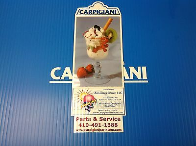 Carpigiani Parts Coldelite Whipped Cream Machine Kw-50 Kw-77 Front Decal