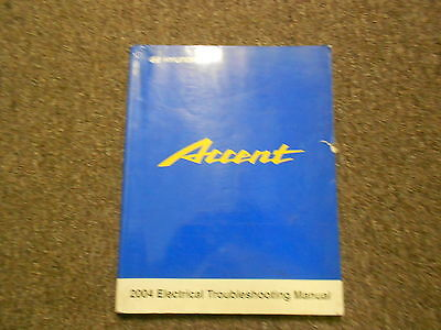 2004 HYUNDAI ACCENT Electrical Troubleshooting Manual Diagrams Components OEM