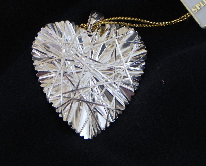 Sterling Silver HEART PENDANT large unique modernist