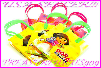 12 PC DORA THE EXPLORER GOODIE GIFT BAGS PARTY FAVORS CANDY TREAT BIRTHDAY BAG