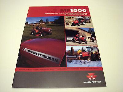 Massey Ferguson . MF1500 . 2011 Sales Brochure