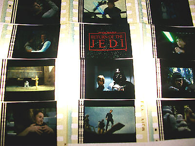 Star Wars Jedi Film Cell Lot Of 12   Collectible Compliments Dvd Poster Book