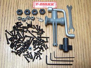 4907 Traxxas 3.3 T-maxx Screws & Tools 14mm Wheel Hex Nuts Fasteners Shock / 2.5