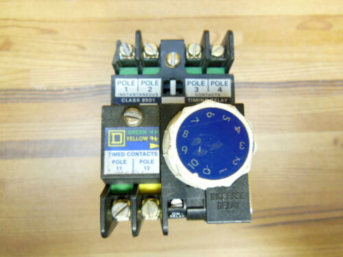 Square D timing relay class 8501 Type LO-40