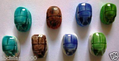Lot 0F 24 Egypt Egito Egipto Egitto Mısır Египет Ägypten Scarab Hand Made