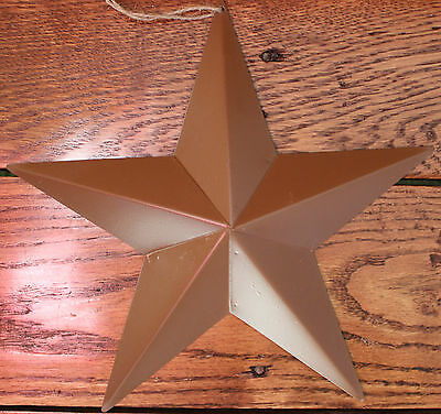"""New Tin Metal Brown Hanging Star 9.5"""" Country Decorative Accent Rustic Style"""
