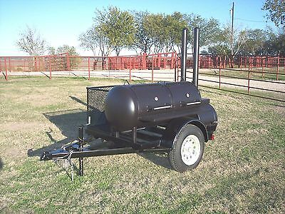 New Custom Bbq Pit Smoker Charcoal Grill Trailer
