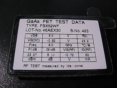 Fujitsu Fsx52wf Gaas-fet Rf Microwave Transistor 8 Ghz - Nos Qty 1