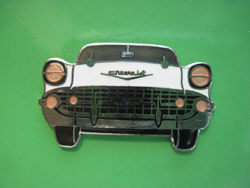 1957 CHEVY CHEVROLET BELAIR front view - hat pin , lapel pin , tie tac GIFT BOXD