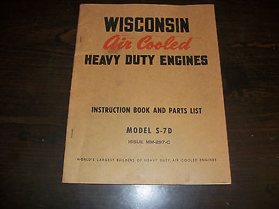 Wisconsin Air Cooled Heavy Duty Engines Instruction Manual Parts List S-7d
