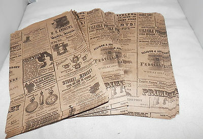 25 6x9 Newspaper Print Paper Kraft Bagsvintage Style Newsprint Favor Craft Bags
