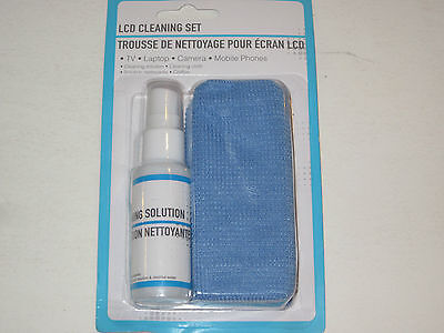 LCD Screen Cleaning Set w/Solution & Cloth - TV Laptops Camera Cell Phone Tablet