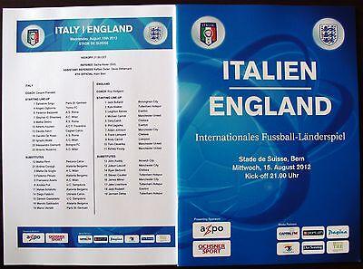 ITALY v England (Friendly in Berne, Switzerland) 2012
