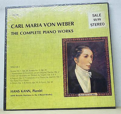 Hans Kann WEBER Piano Music Vol.1 - Vox Box SVBX 5450 SEALED (Kann Vinyl Box)