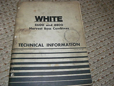 Oliver White Tractor 8600 8800 Combine Technical Information Manual