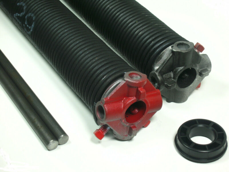 """Garage Door Torsion Springs PAIR .234 x 2"""" ID x Select Length - with Options"""