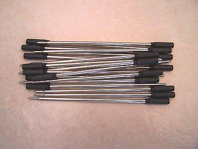 10 CROSS Type Ballpoint Pen Refills - BLACK med