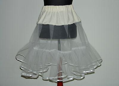l 50er Stil Rockabilly Weiß, Rot, Schwarz,Braun,Pink,Mint (Weißer Petticoat Rock)