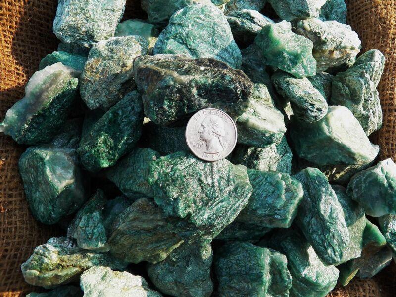 3000 Carat Lots of Fuchite  Rough - Plus a FREE Faceted Gemstone